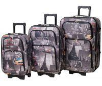 Набор чемоданов Bonro Style 3 штуки город