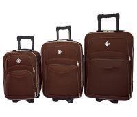 Набор чемоданов Bonro Style 3 штуки коричневый