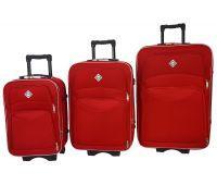 Набор чемоданов Bonro Style 3 штуки красный