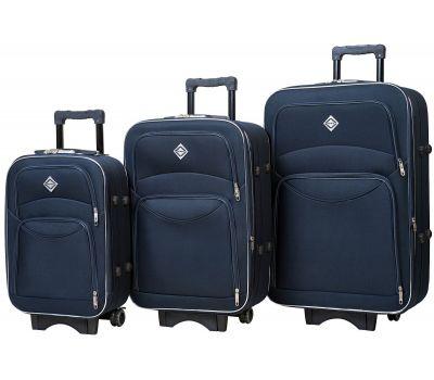 Набор чемоданов Bonro Style 3 штуки синий