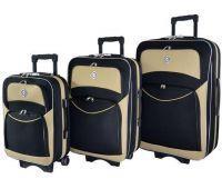 Набор чемоданов Bonro Style 3 штуки черно-кремовый