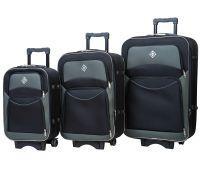 Набор чемоданов Bonro Style 3 штуки черно-серый