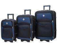 Набор чемоданов Bonro Style 3 штуки черно-т.синий