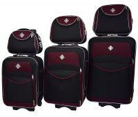 Набор чемоданов и кейсов Bonro Style 6 штук черно-вишневый