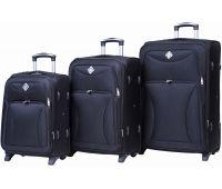 Набор чемоданов Bonro Tourist 3 штуки на 2-х колесах черный