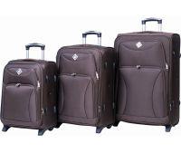 Набор чемоданов Bonro Tourist 3 штуки на 2-х колесах коричневый