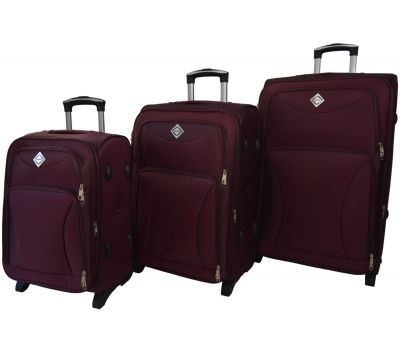 Набор чемоданов Bonro Tourist 3 штуки на 2-х колесах марсала
