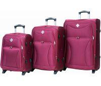 Набор чемоданов Bonro Tourist 3 штуки на 2-х колесах вишневый