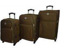 Набор чемоданов Bonro Tourist 3 штуки на 2-х колесах золотой
