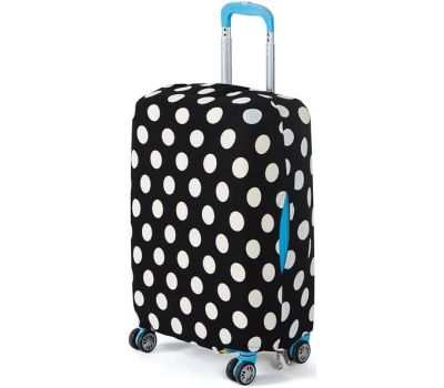 Чехол для чемодана Dorami большой L белые точки