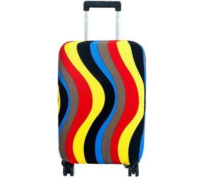 Чехол для чемодана Dorami большой L цветные полоски