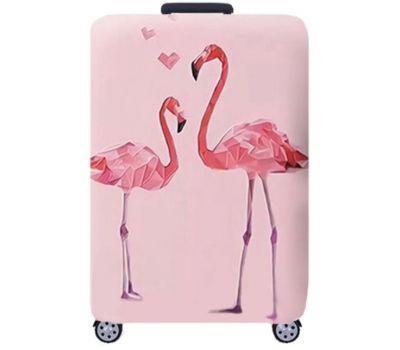 Чехол для чемодана Dorami средний M pink Flamingo