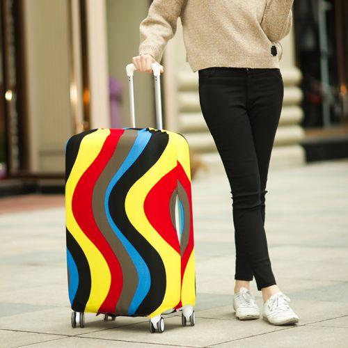 Чехол для чемодана Dorami мини XS цветные полоски