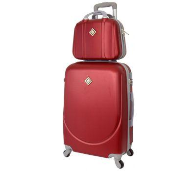 Комплект чемодан и кейс Bonro Smile большой бордовый