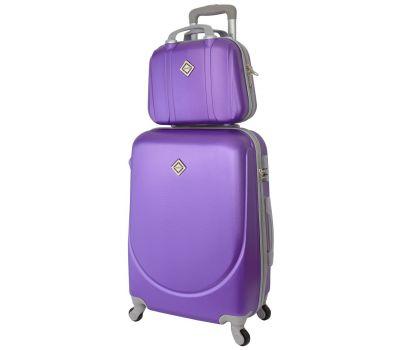 Комплект чемодан и кейс Bonro Smile большой фиолетовый