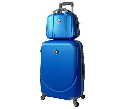 Комплект чемодан и кейс Bonro Smile большой голубой