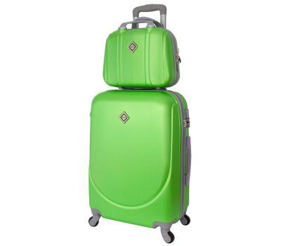 Комплект чемодан и кейс Bonro Smile маленький салатовый