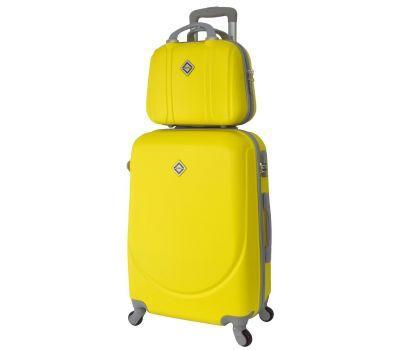 Комплект чемодан и кейс Bonro Smile средний желтый