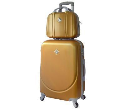 Комплект чемодан и кейс Bonro Smile большой золотой
