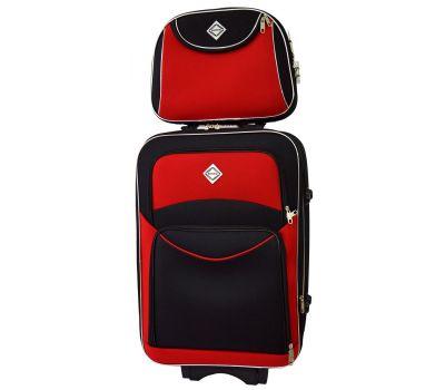 Комплект чемодан и кейс Bonro Style большой черно-красный