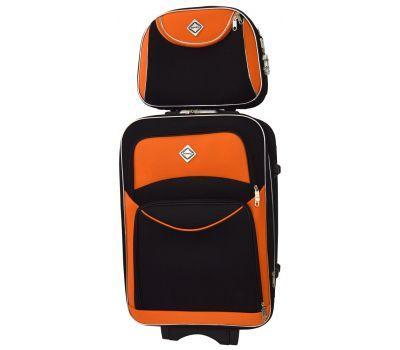 Комплект чемодан и кейс Bonro Style средний черно-оранжевый