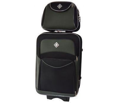 Комплект чемодан и кейс Bonro Style средний черно-серый