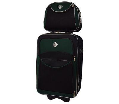 Комплект чемодан и кейс Bonro Style большой черно-зеленый