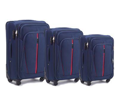 Набор чемоданов Wings 1706 3 штуки синий