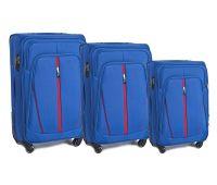 Набор чемоданов Wings 1706 3 штуки голубой