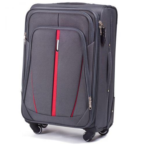 Набор чемоданов Wings 1706 3 штуки серый