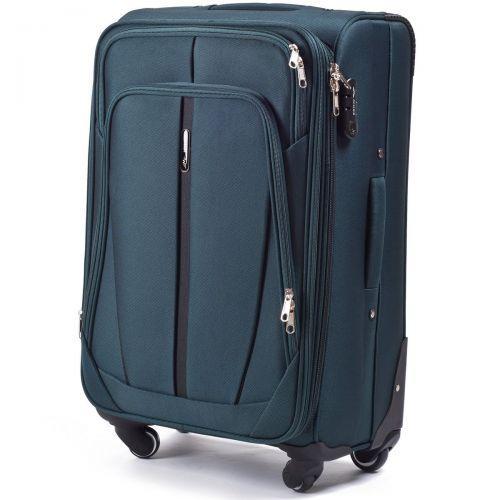 Набор чемоданов Wings 1706 3 штуки зеленый