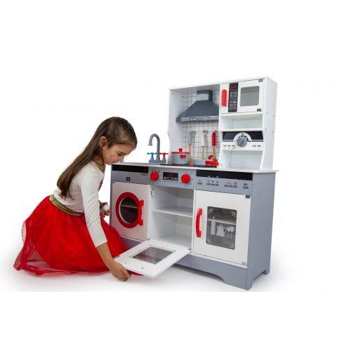 Детская деревянная кухня AVKO Афина, звуковые и световые эффекты
