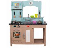Детская деревянная кухня AVKO София + посуда