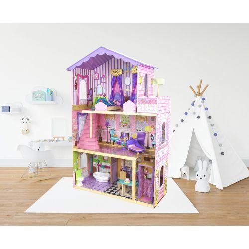 Кукольный домик игровой для Барби AVKO Вилла Магнолия лифт + кукла