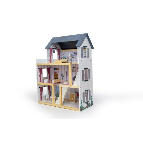 Кукольный домик игровой AVKO Вилла Толедо + 2 куклы