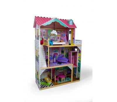 Кукольный домик игровой для барби AVKO Вилла Тоскана + лифт + кукла