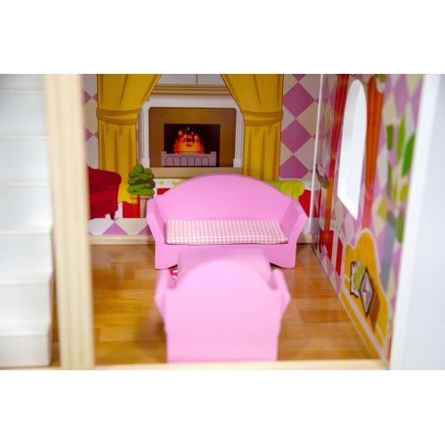Кукольный домик игровой AVKO Вилла Верона + LED подсветка + 2 куклы