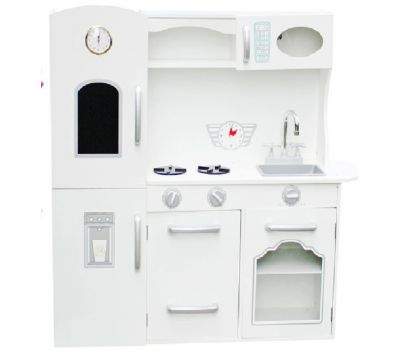 Детская деревянная кухня Retro + посуда