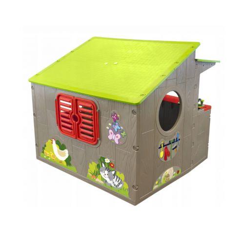 Домик игровой детский пластиковый садовый Country Playhouse 11392