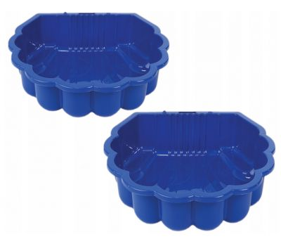 Песочница ракушка пластиковая Dorex синяя