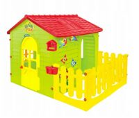 Домик игровой детский пластиковый садовый Mochtoys с террасой 10839