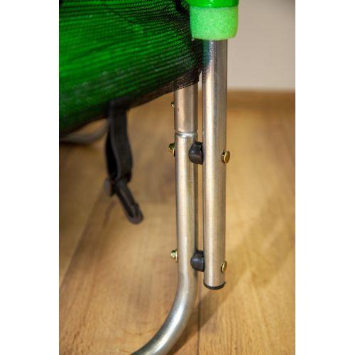 Батут детский FitToSky 140 см с защитной сеткой зеленый
