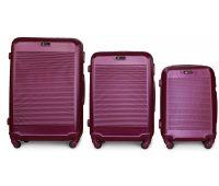 Набір валіз Fly 1093K 3 штуки фіолетовий