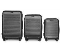 Набор чемоданов Fly 1093K 3 штуки серый