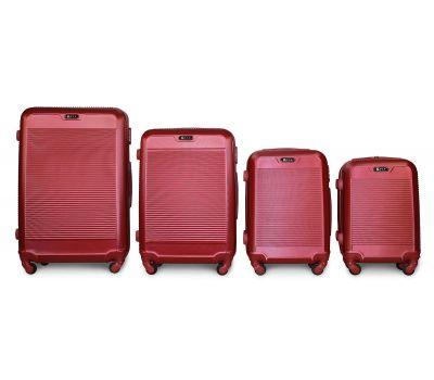 Набор чемоданов Fly 1093K 4 штуки бордовый