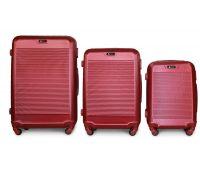 Набор чемоданов Fly 1093K 3 штуки бордовый