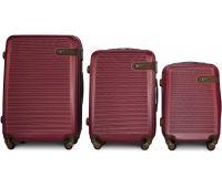 Набор чемоданов Fly 1101 3 штуки бордовый