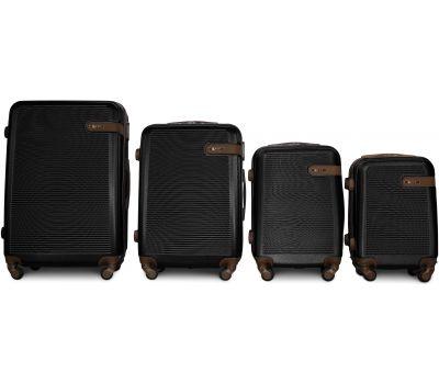 Набор чемоданов Fly 1101 4 штуки черный