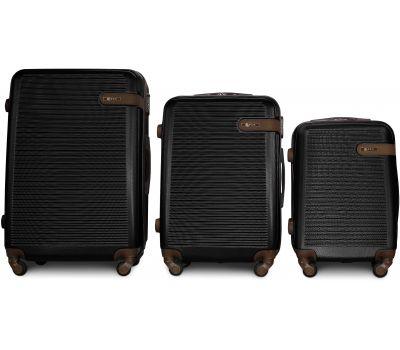 Набор чемоданов Fly 1101 3 штуки черный
