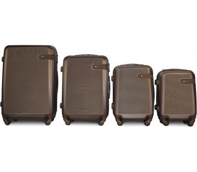 Набор чемоданов Fly 1101 4 штуки коричневый